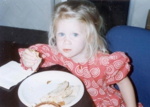 Firstborn Daughter, Age 2.  She has always loved to eat!