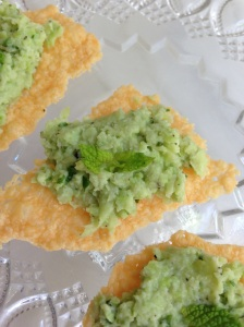 Minted Lima Bean Puree.