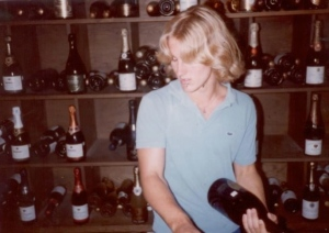 Hubby as a young wine professional.