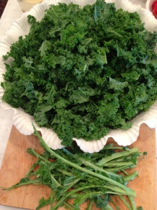 Kale, ribs removed.