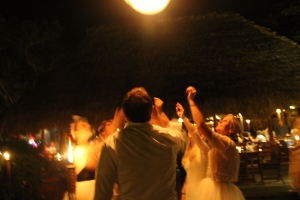 Sending off our Thai Candle into the night sky.